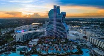 Un hôtel incroyable en forme de guitare à Miami