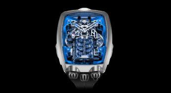 Une montre incroyable avec un mini-moteur de Bugatti intégré !