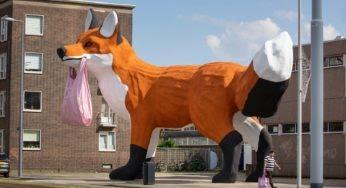 Street-art : un renard géant aperçu aux Pays-Bas !