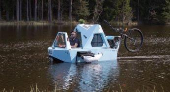 Z-Triton : un incroyable vélo qui se transforme en bateau