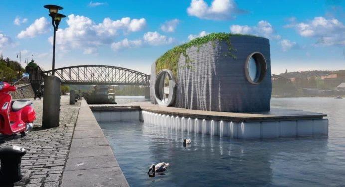 Voici la première maison flottante au monde imprimée en 3D
