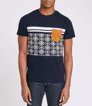 Acheter le T-shirt colorblock imprimé aztèque Jules