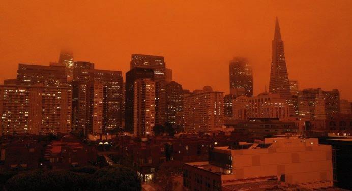 #Apocalypse2020 : les incroyables photos du ciel de San Francisco