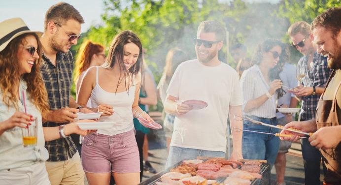 La terrasse idéale des amateurs de barbecues entre potes