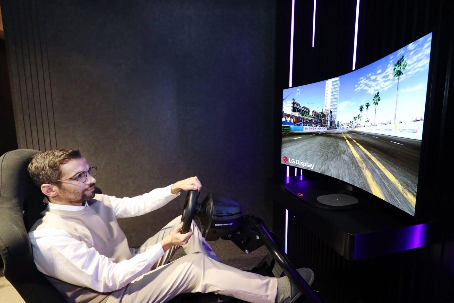 LG présente un écran OLED incurvé au CES 2021