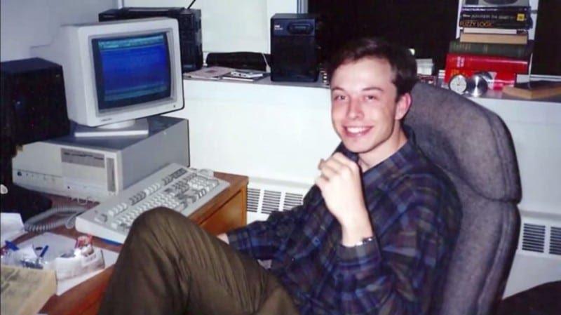 Elon Musk en 1992 (via reddit)