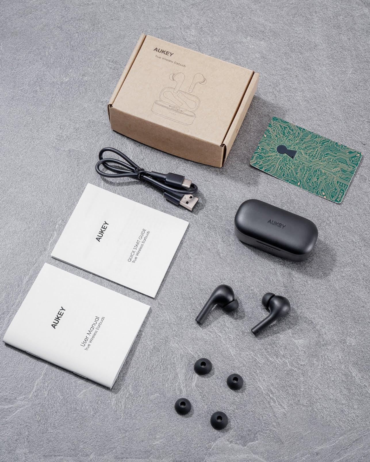 Unboxing des écouteurs Aukey EP-T21S