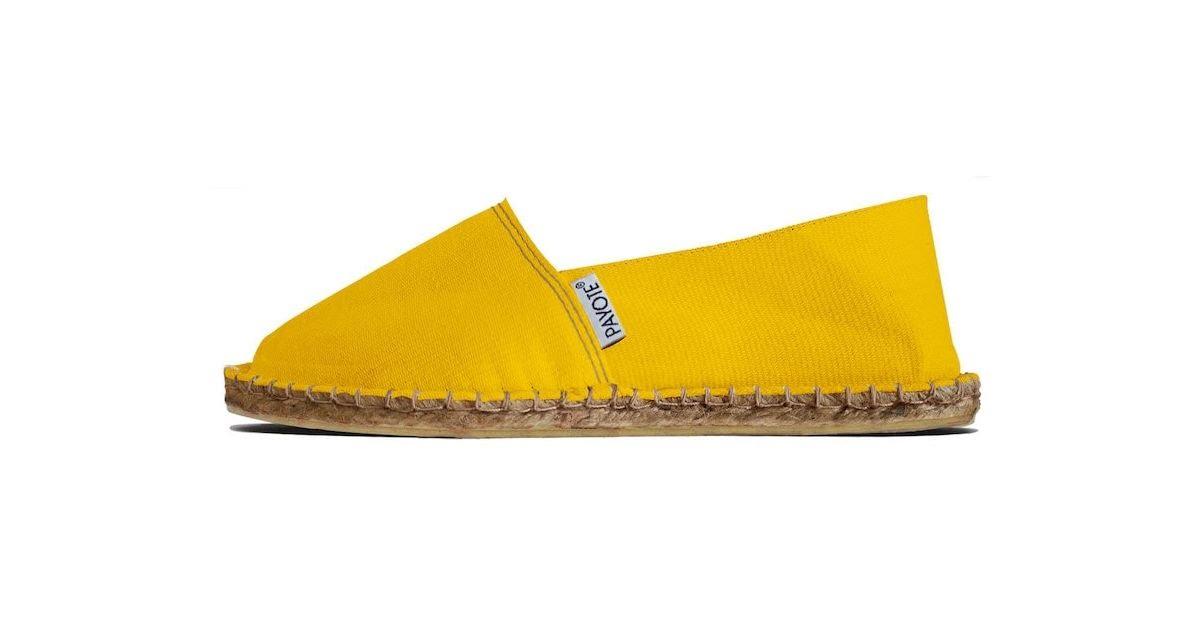 Espadrilles jaunes Payote