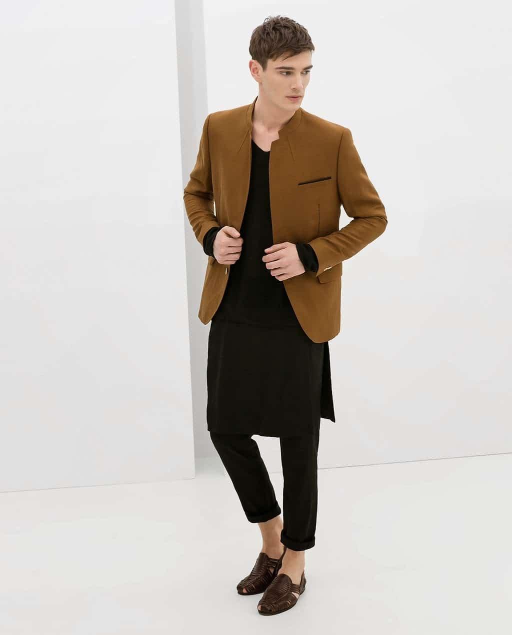Tendance genderfluid - jupe pantalon Zara pour homme en 2014