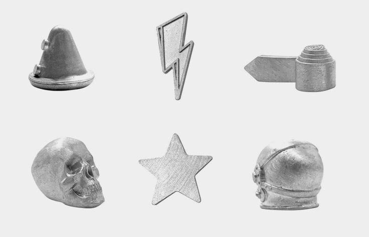 Monopoly David Bowie - pions