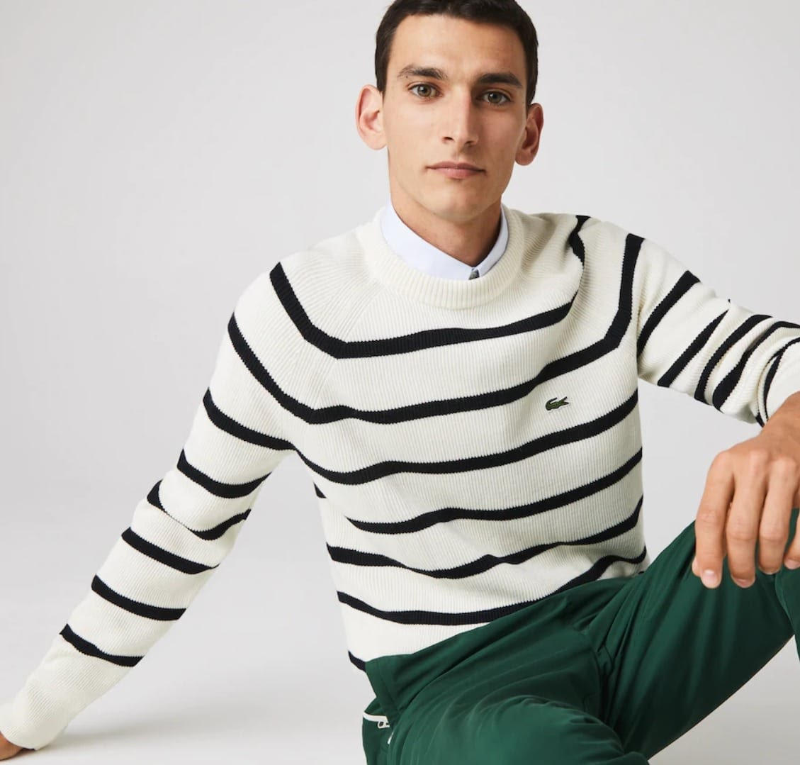 Soldes Lacoste - pull à rayures