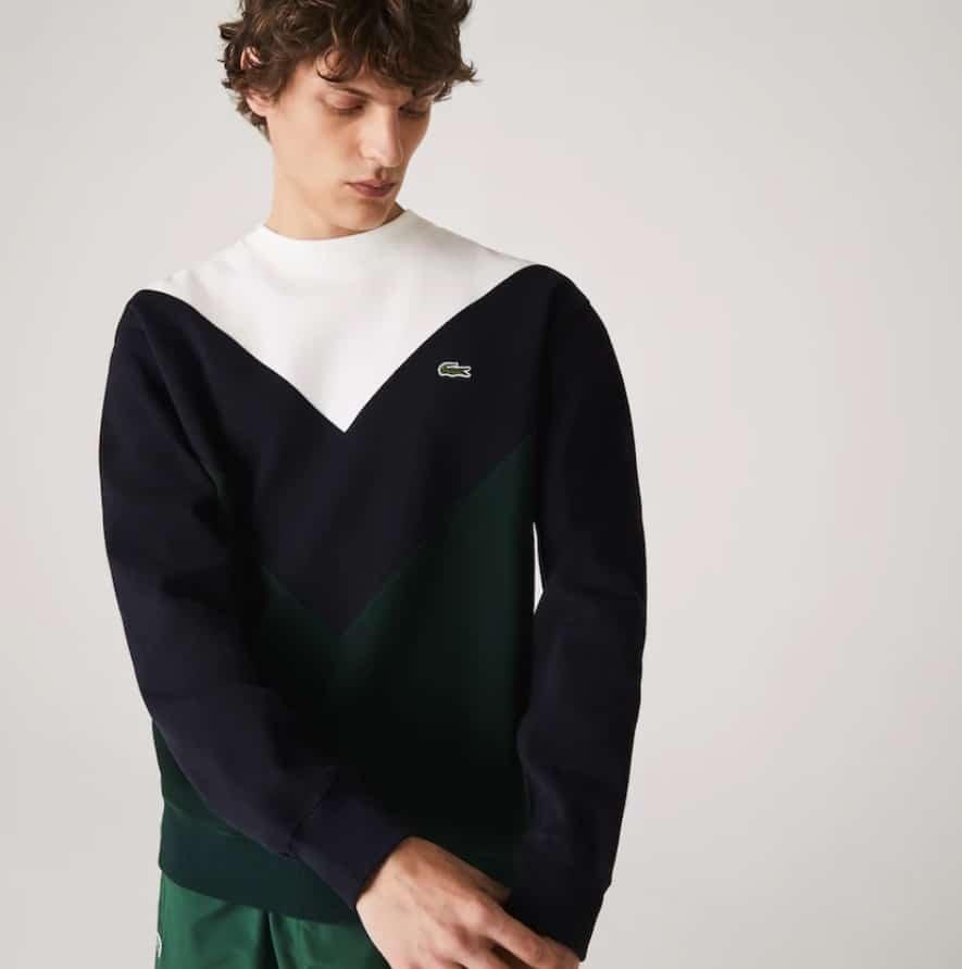 Soldes Lacoste - Sweatshirt colorblock