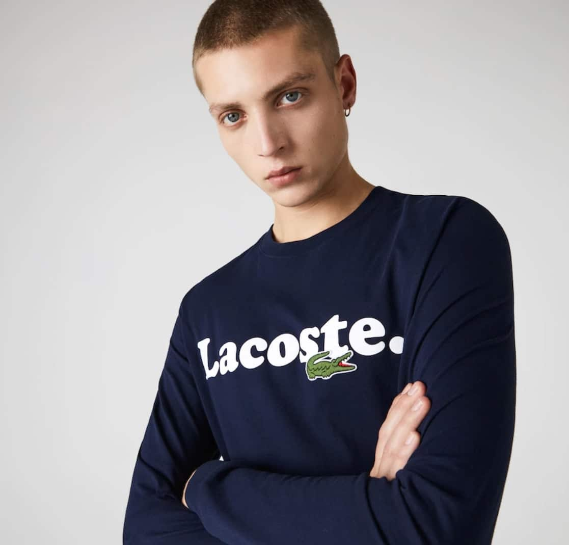 Soldes Lacoste - tee-shirt manches longues