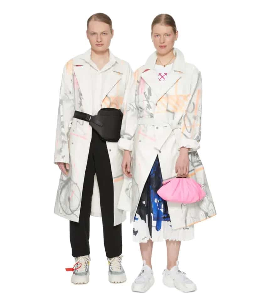 Style genderfluid - Trench mixte Off White