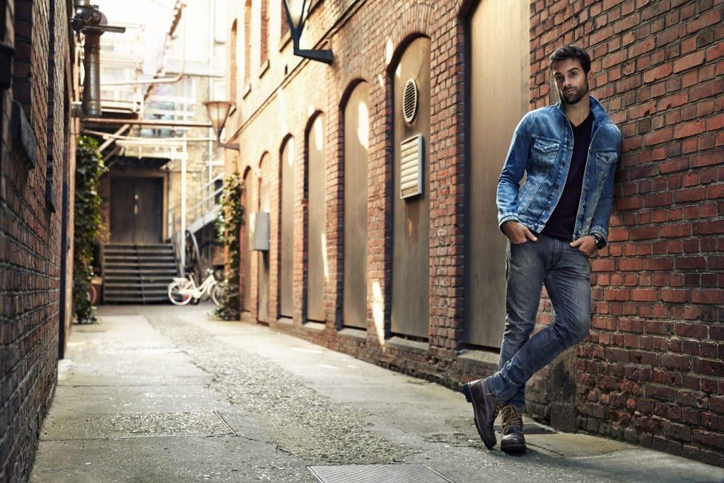 Style des années 80 - Blouson en jean