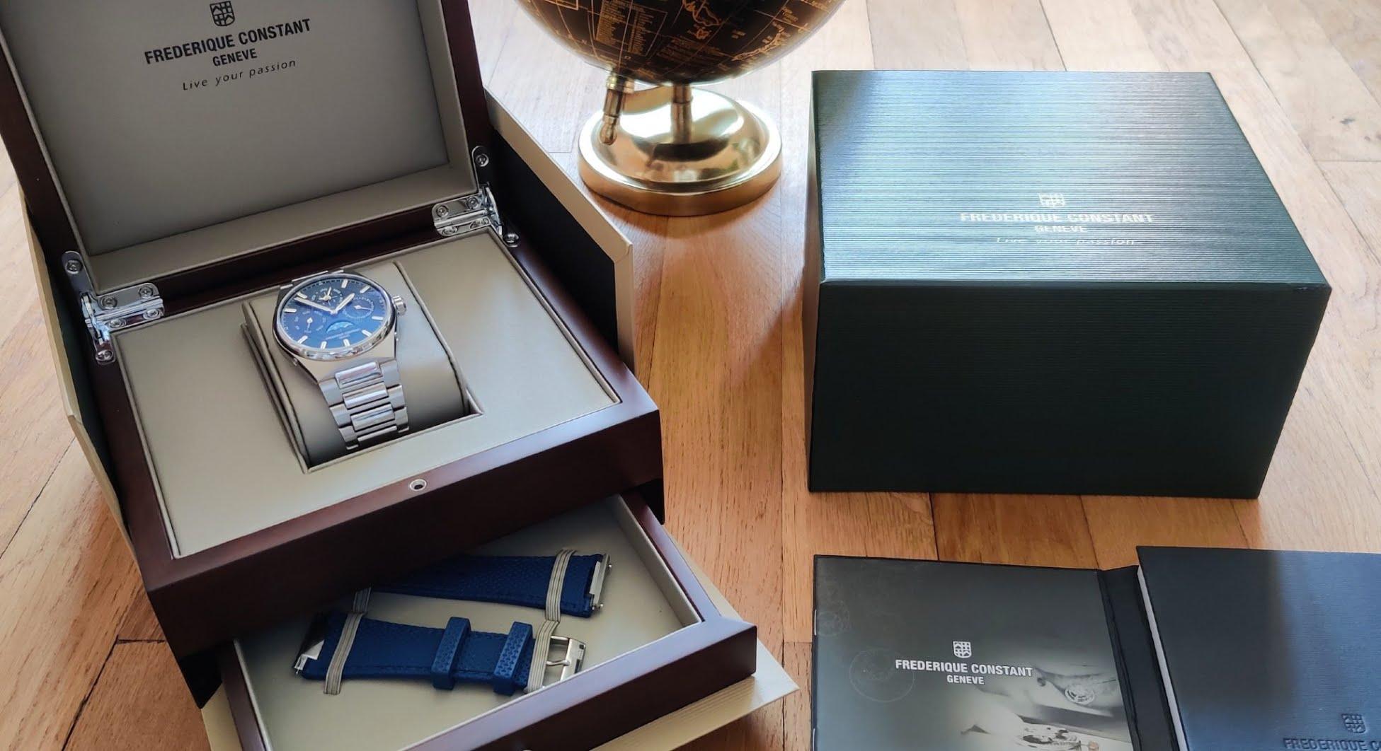 Coffret de la montre Frederique Constant Highlife