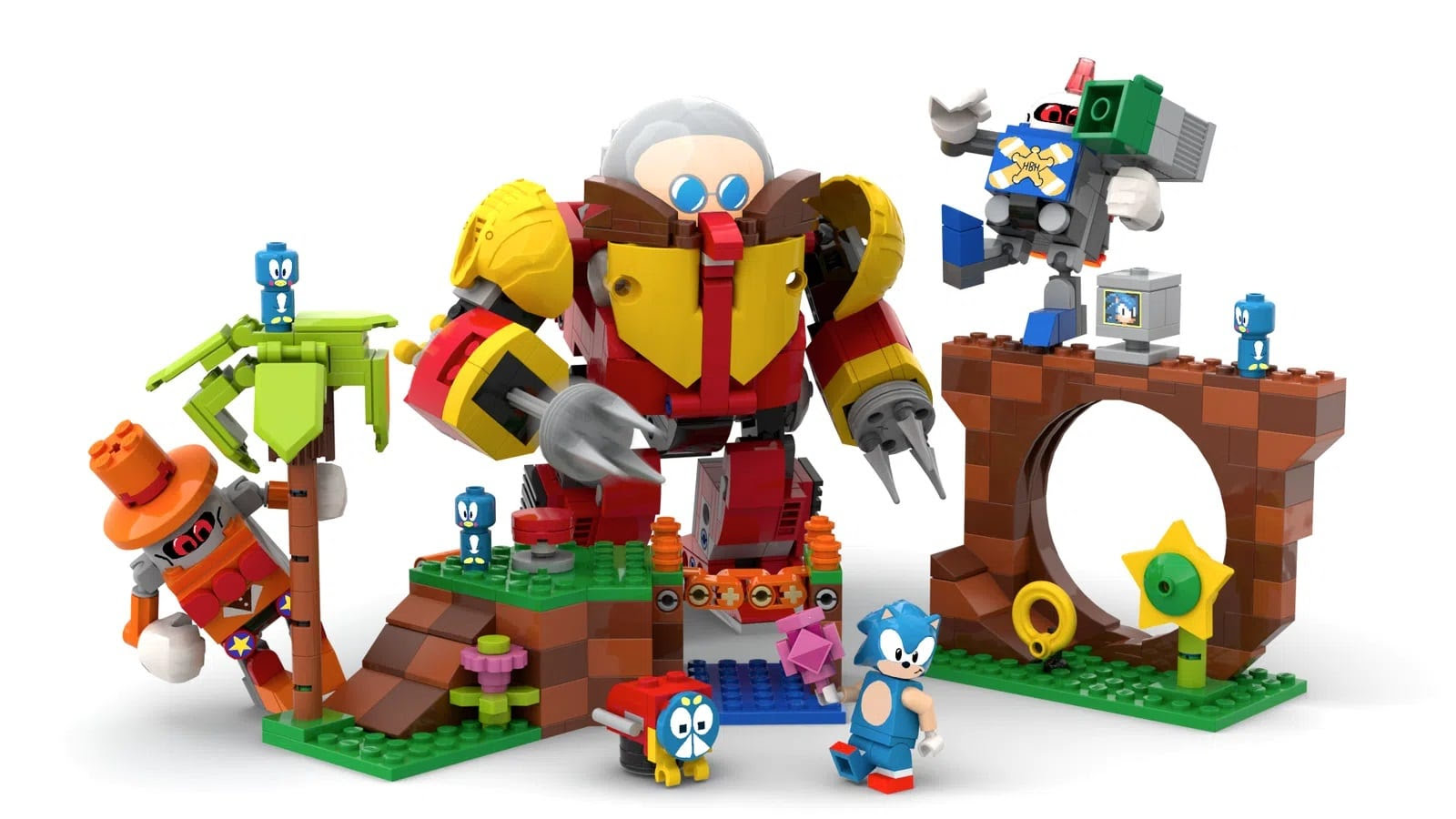 Set Lego Sonic Mania - Green Hill Zone