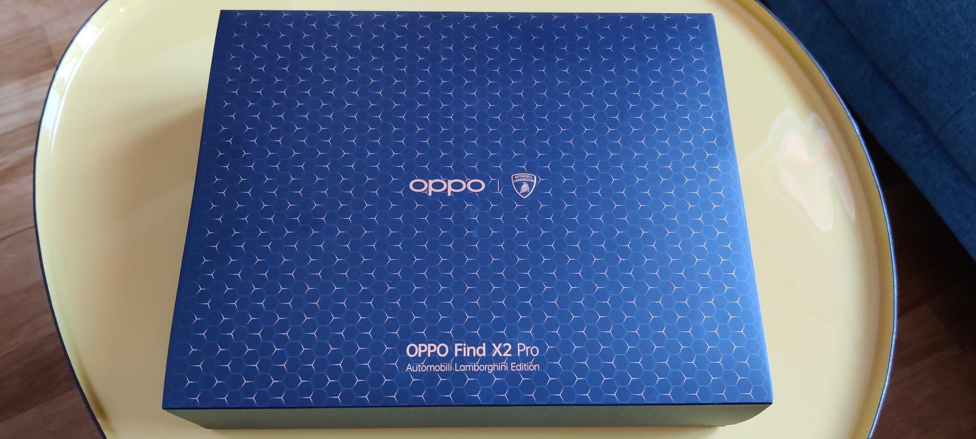 Unboxing du smartphone Oppo Find X2 Pro Lamborghini