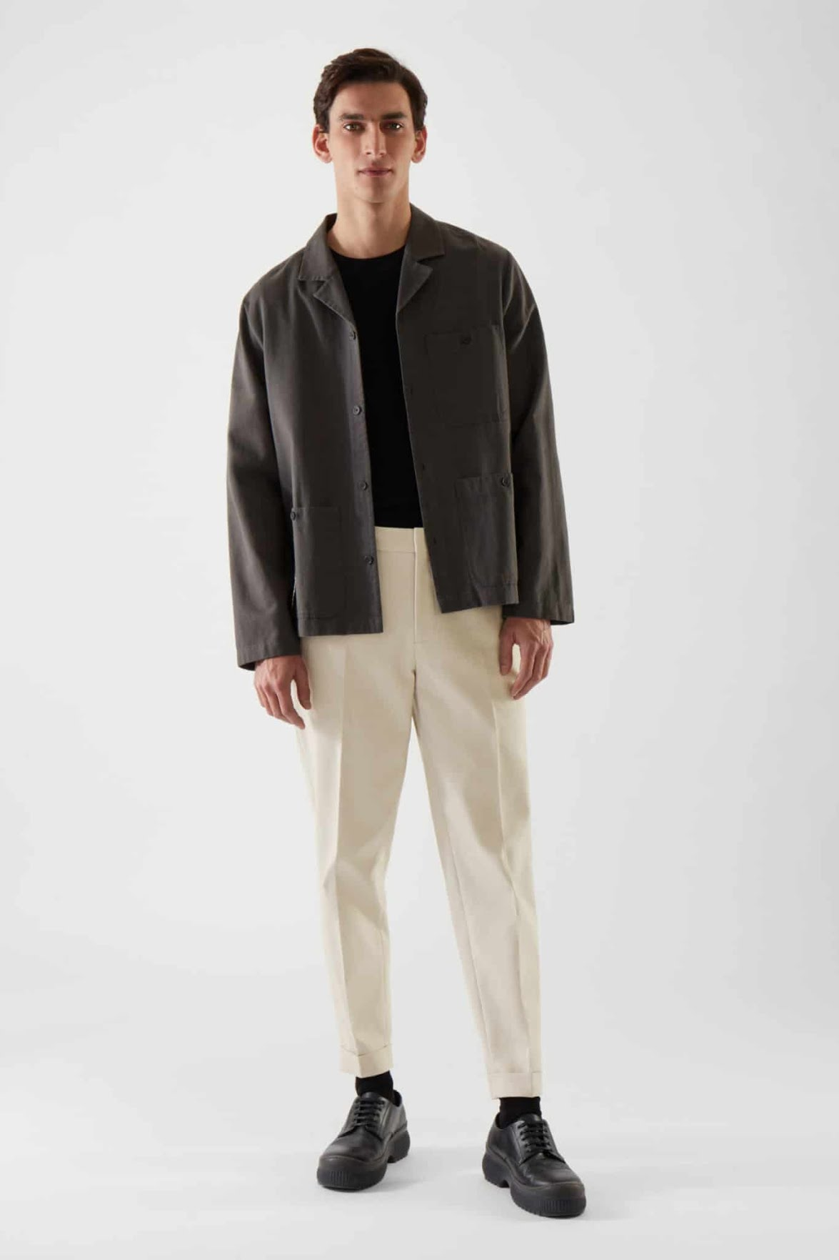 Pantalon en coton bio COS