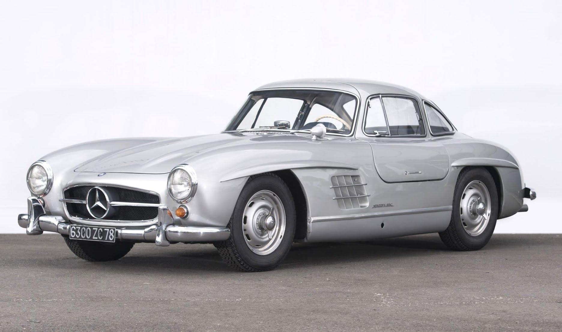 Plus belles voitures du monde - 1955 Mercedes-Benz 300 SL coup