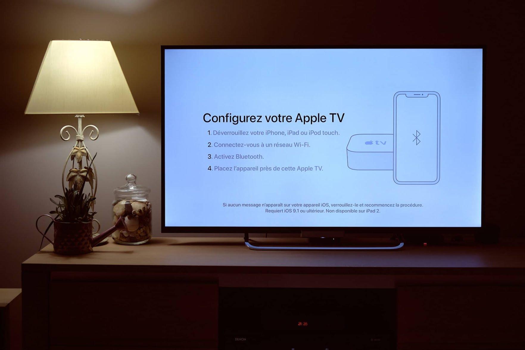 Apple TV 4K une configuration simple