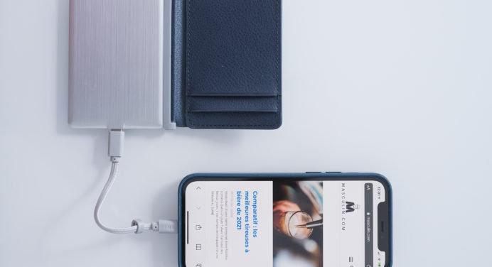 INÉ x FR-BG – The Wallet : un porte carte en cuir éco-responsable avec batterie