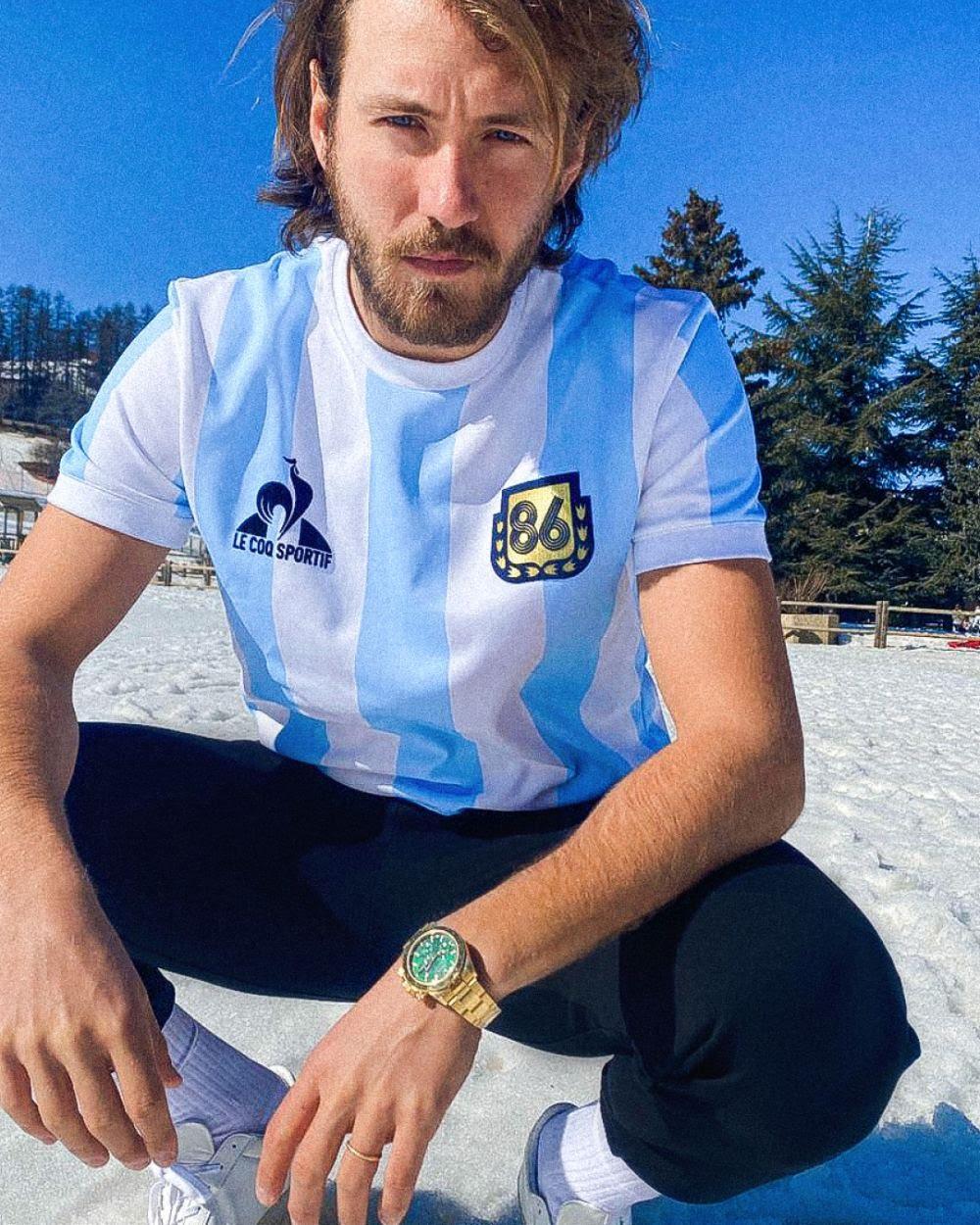 Lucas Pouille pour Le Coq Sportif Legends