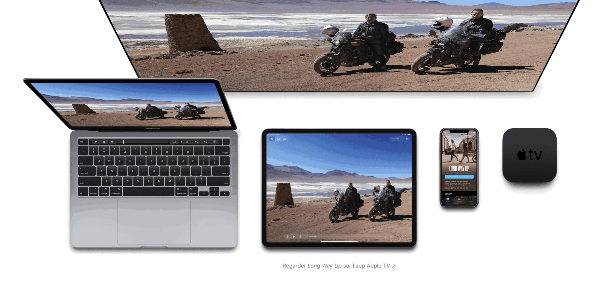 Apple TV+, iPhone, iPad, MAC, Apple TV 4K à vous de choisir