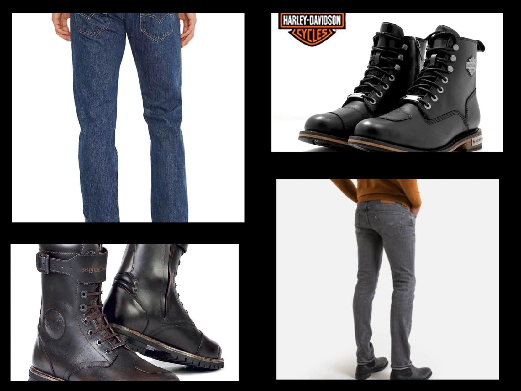 Le look du biker :  Pantalons et chaussures confortables