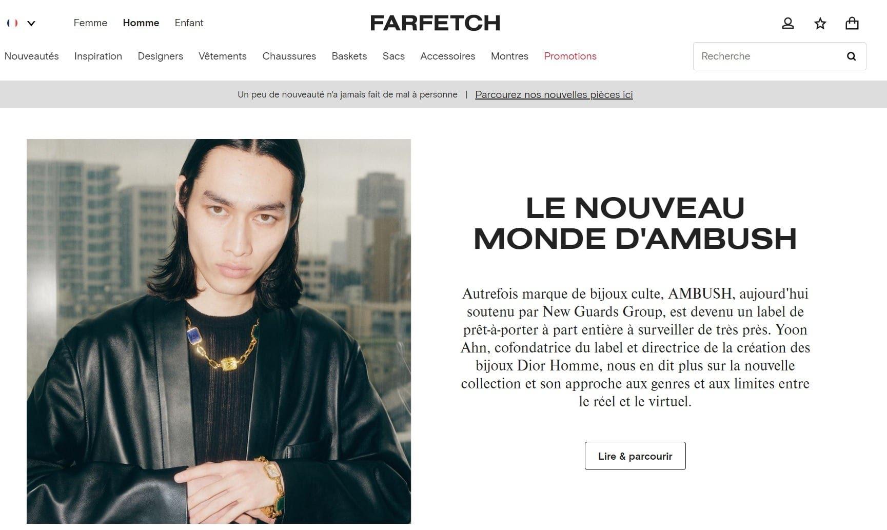 Meilleurs sites de mode homme - Farfetch