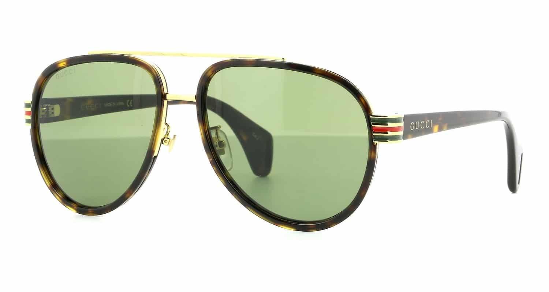 Lunettes de soleil aviateur - Gucci GG 0447S 004 58/17