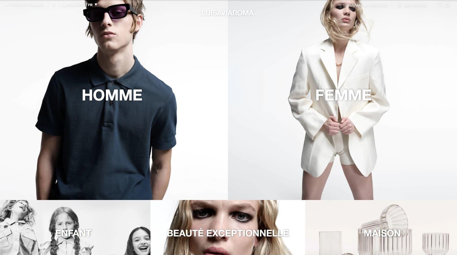 Meilleurs sites de mode homme - LuisaViaRoma