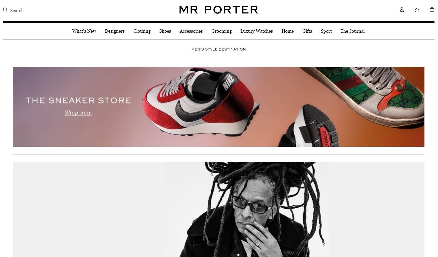 Meilleurs sites de mode homme - Mr Porter