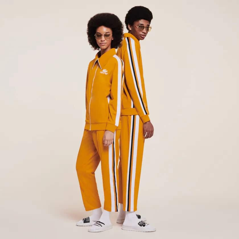 Pantalon Lacoste x Ricky Regal en piqué à bandes contrastées