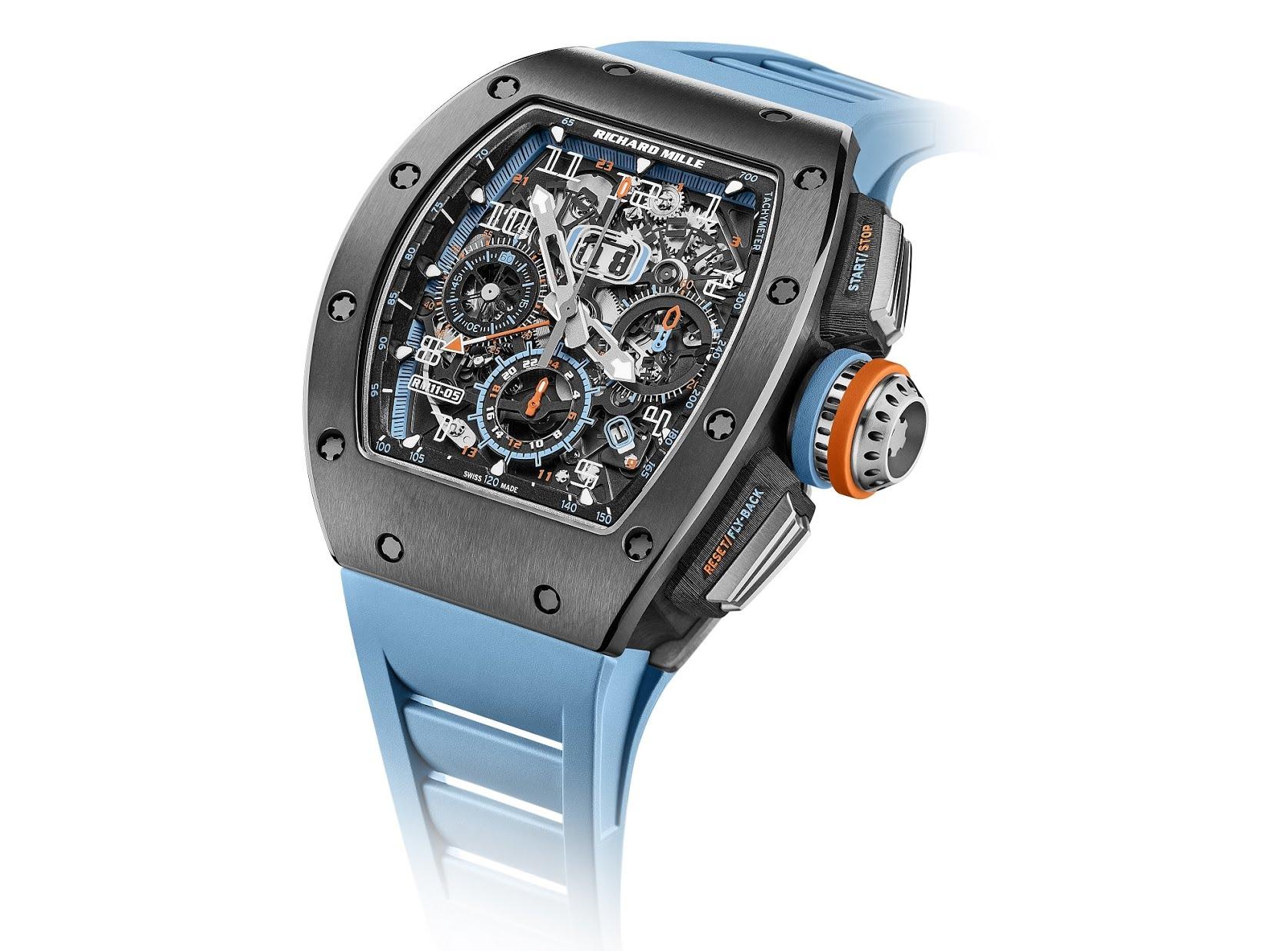 Plus belles complications horlogères - Richard Mille RM 11-05 Automatique Chronographe Flyback GMT