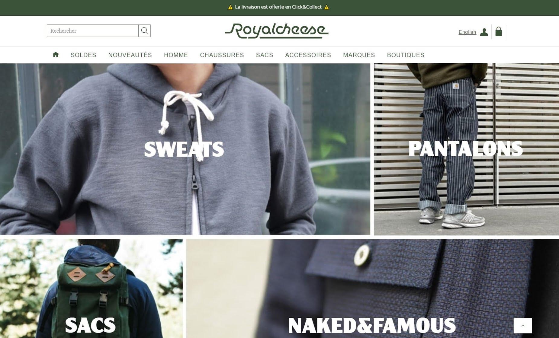 Meilleurs sites de mode homme - Royalcheese
