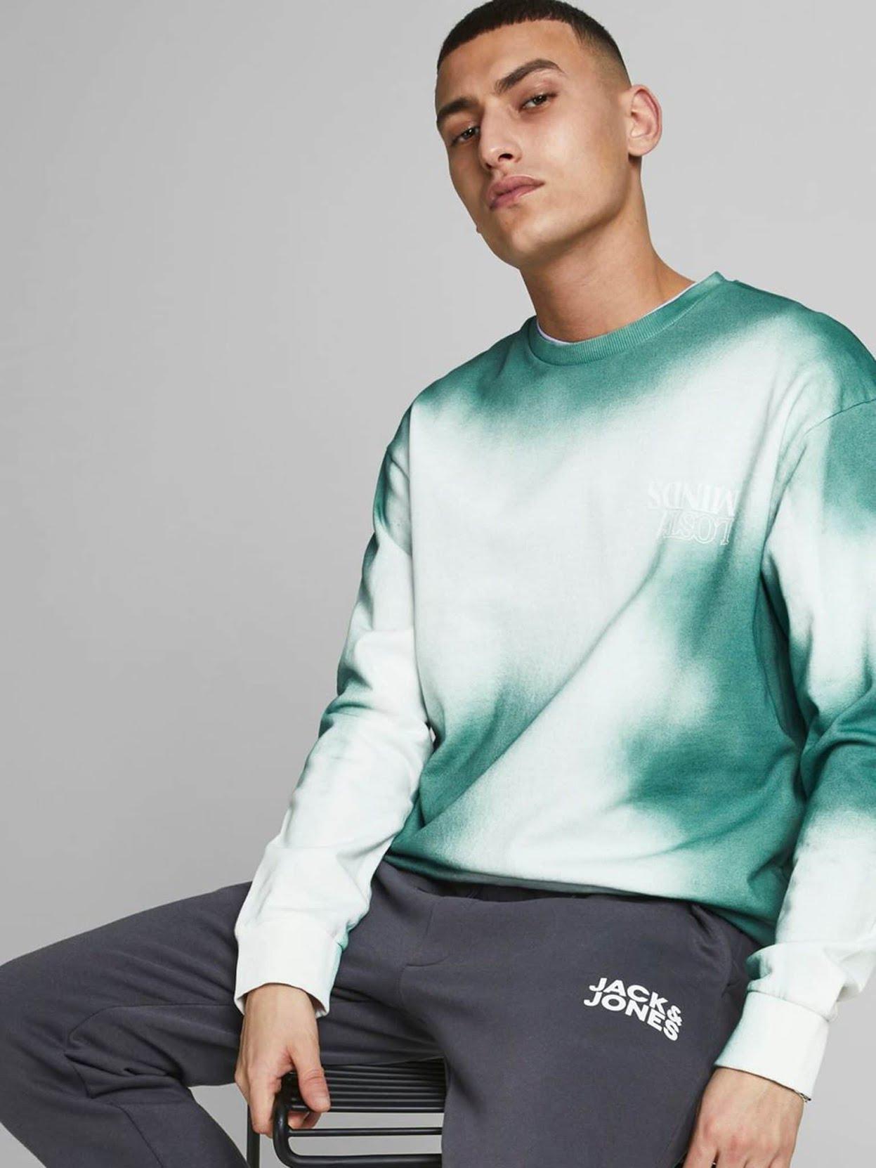 Avis Jack & Jones - sweat-shirt tie & dye