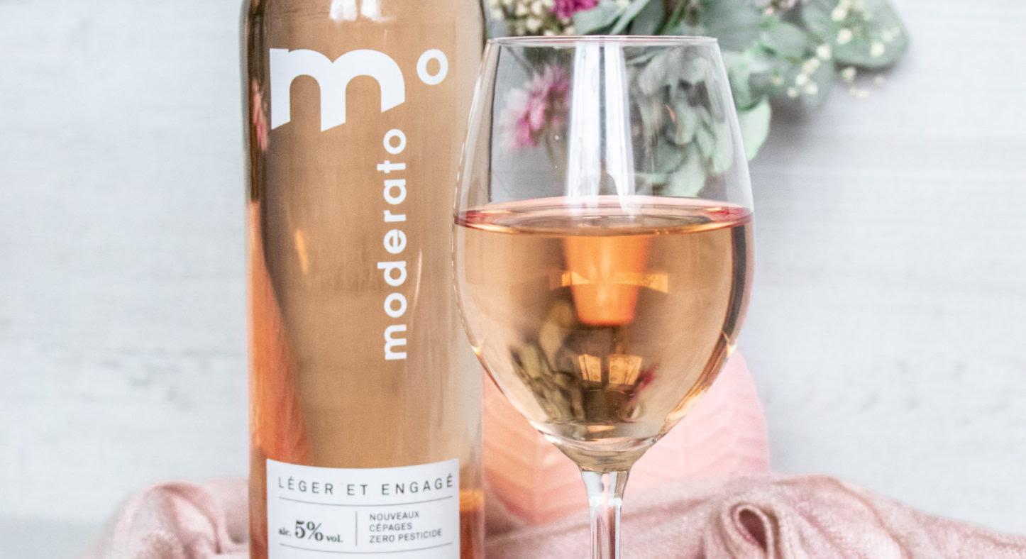 On a goûté : Moderato Blanc & Rosé, le Low Wine à 5°
