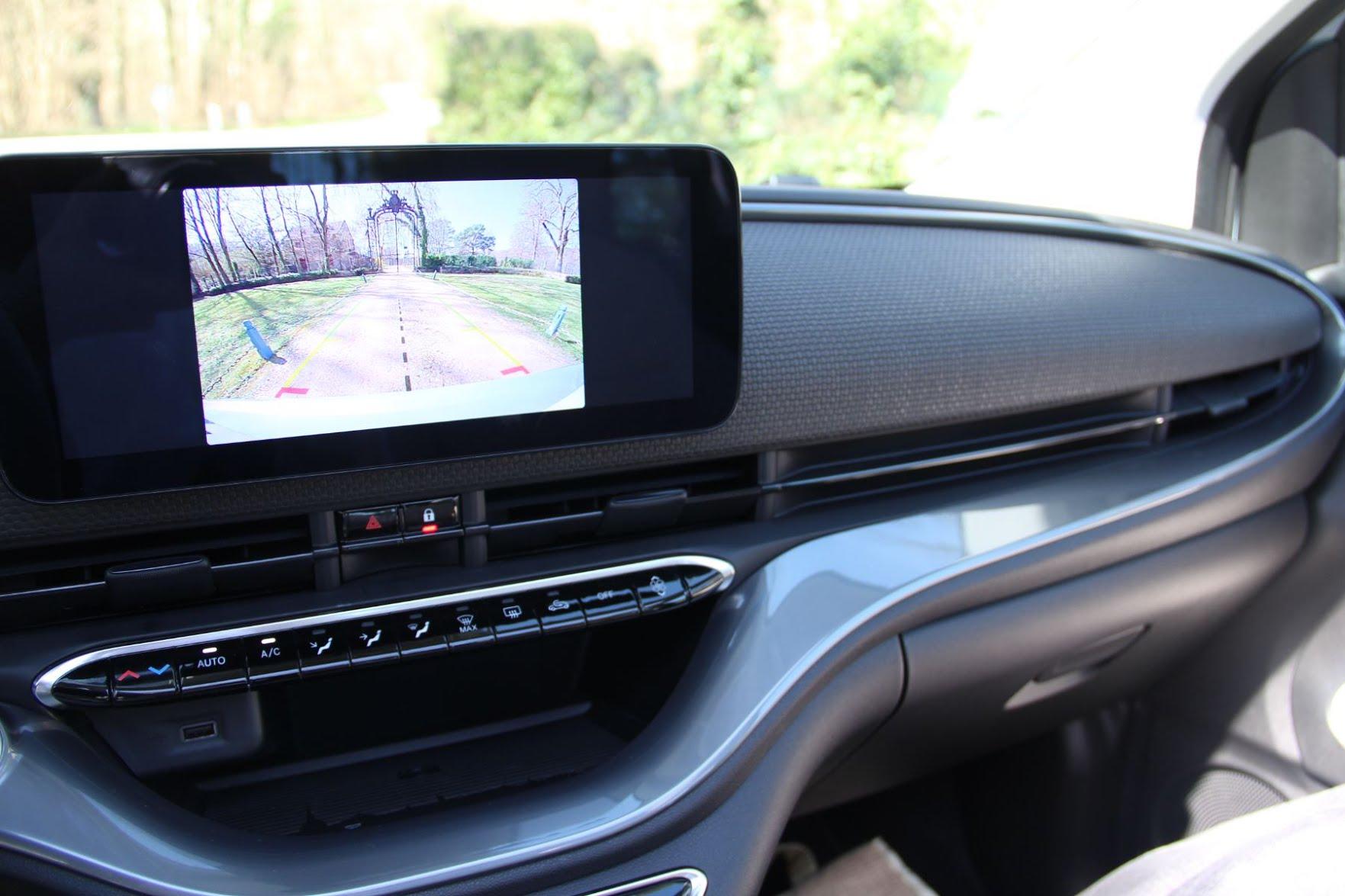 Ecran de la Fiat 500E