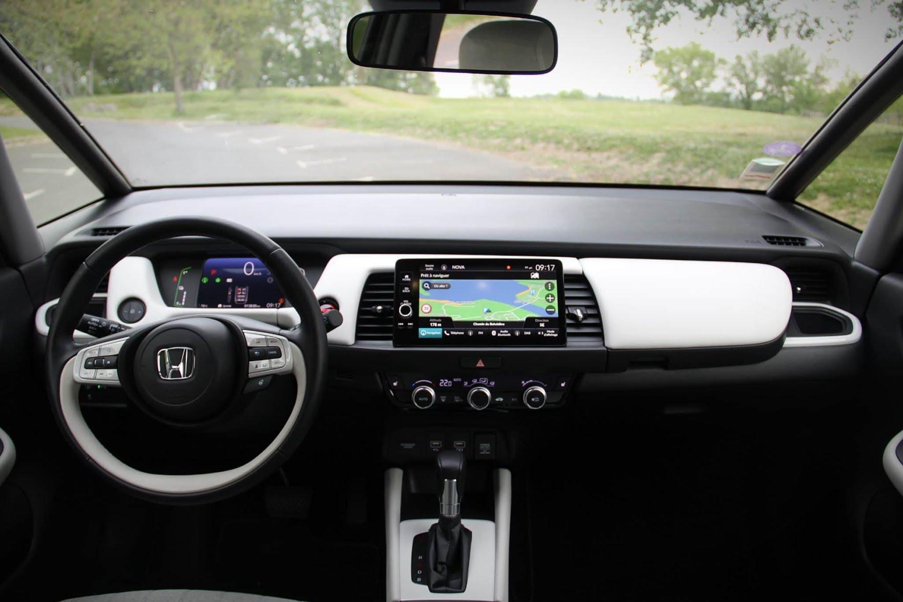 Intérieur de la Honda Jazz Hybride