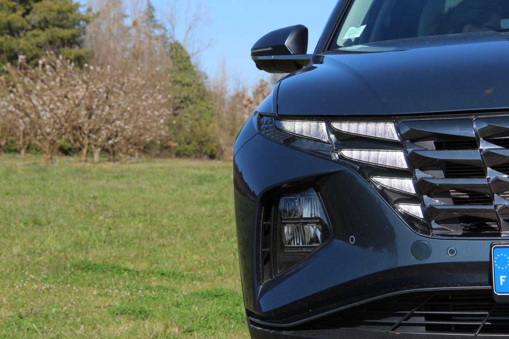 Calandre et phares du Hyundai Tucson