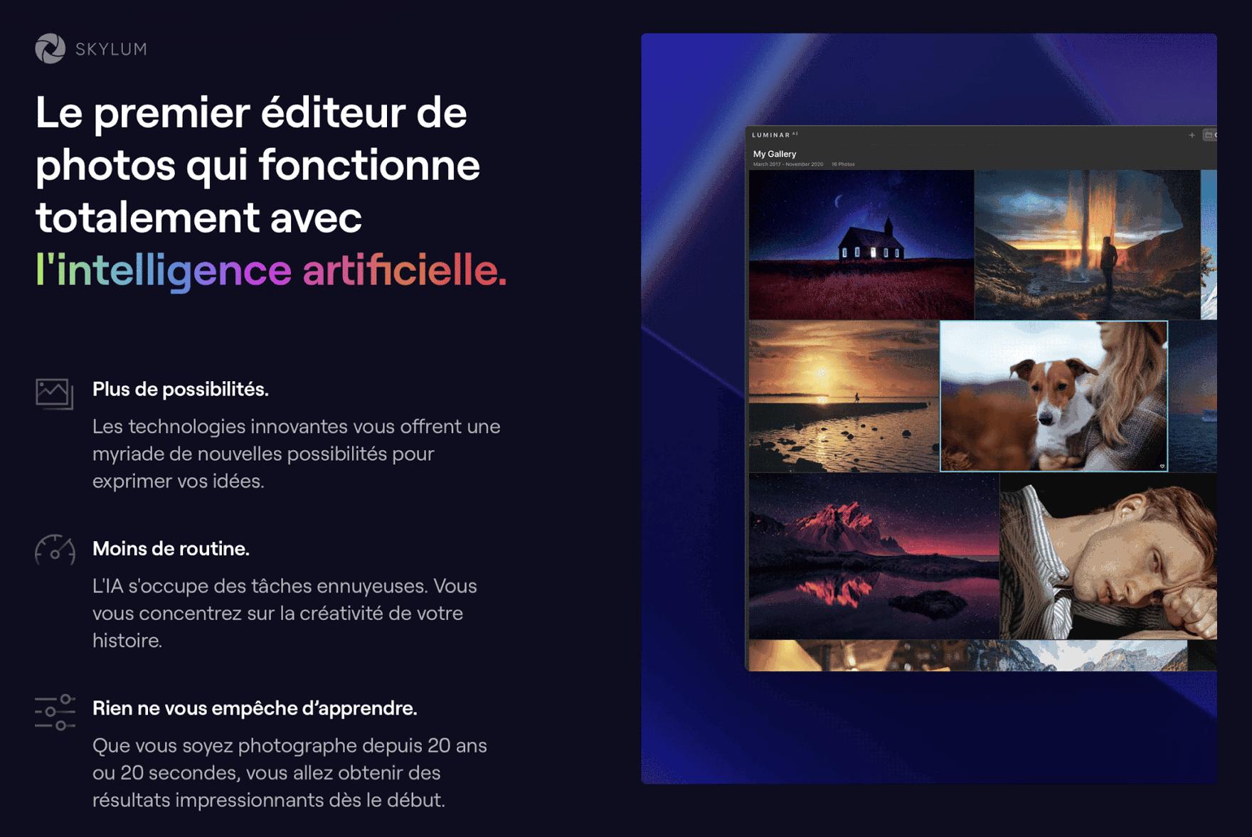 Luminar AI - La retouche photo facile en un clic