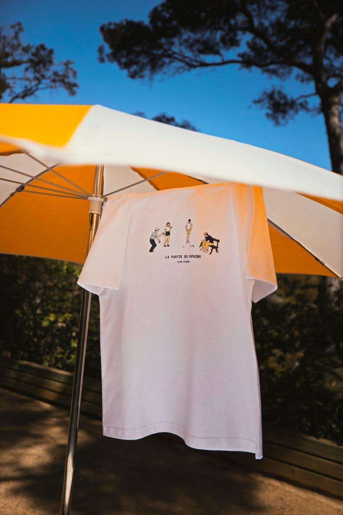 T-shirt blanc Jules x Club Pétanque