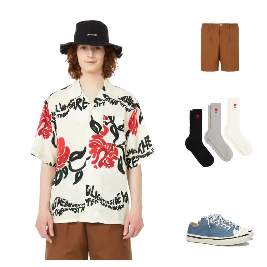 Mode homme printemps-été 2021 - Un look fleuri qui sent bon l'été
