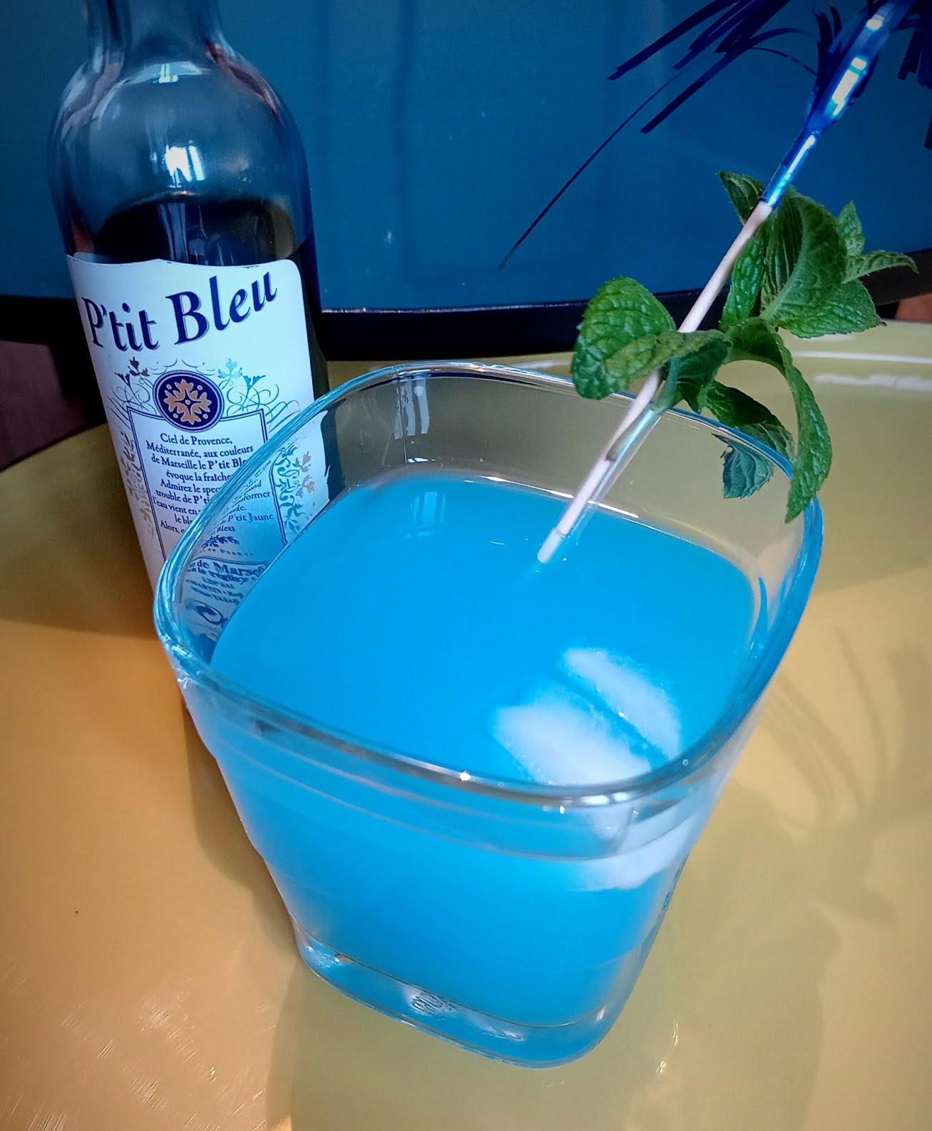 Cocktail Bleu'Tiful avec pastis P'tit Bleu