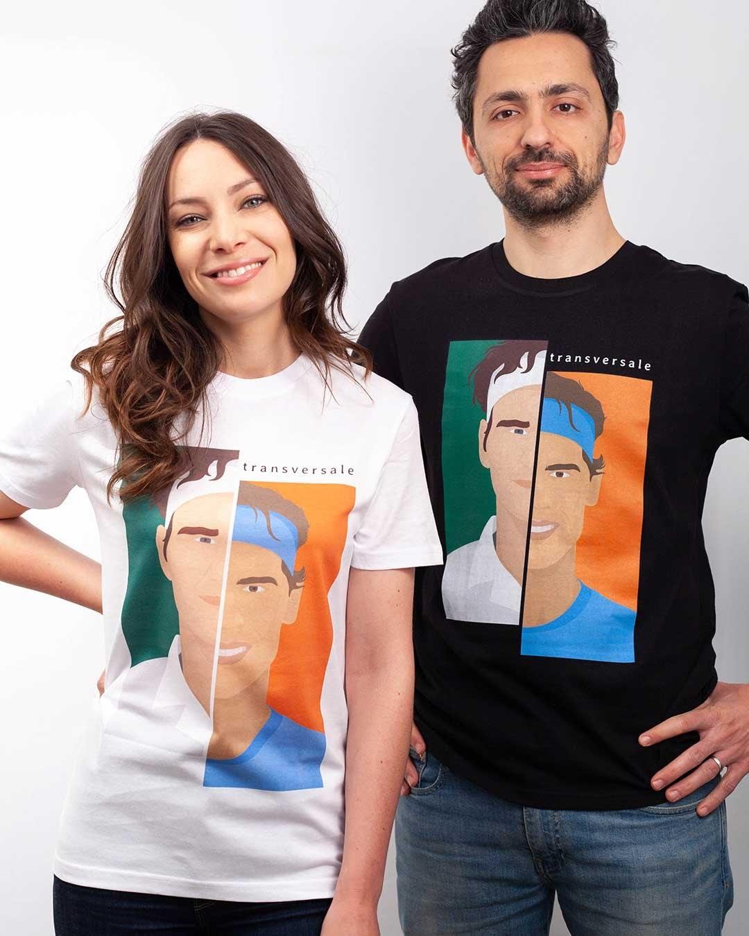 Transversale - t-shirt Roger vs Rafa