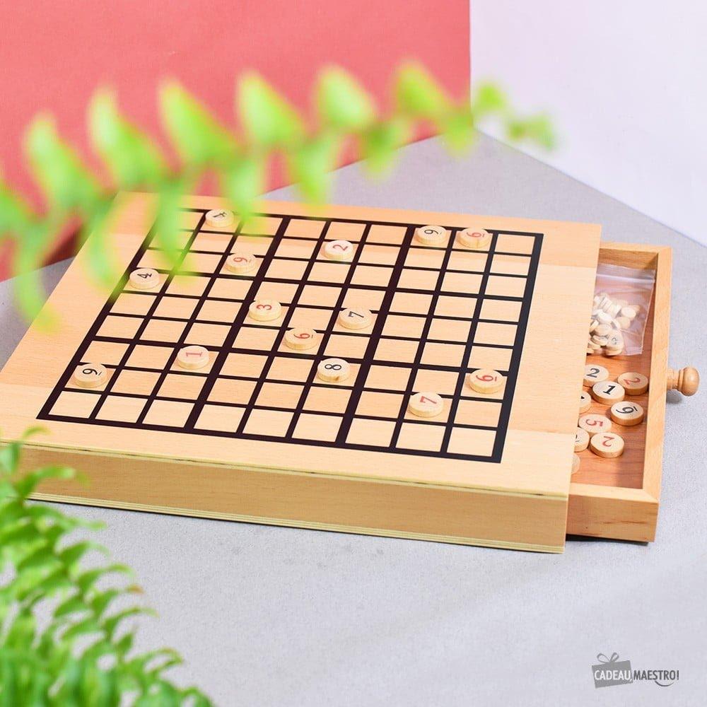 Fête des pères - coffret sudoku en bois