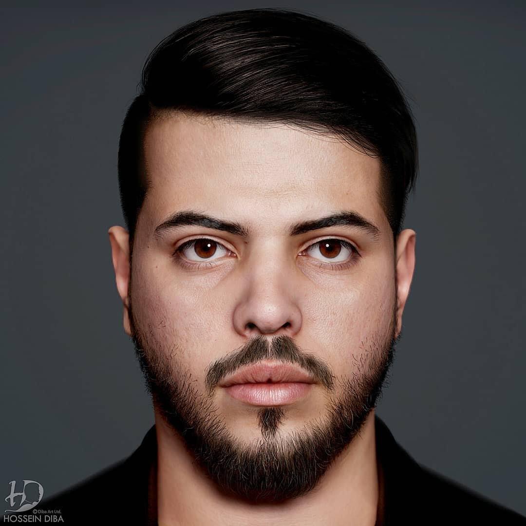 Auto-portrait de Hossein Diba en 3D