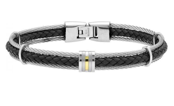 Bracelet Jourdan en or et en cuir : 99 euros