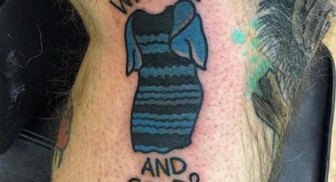 Cet homme s'est fait tatouer la robe #TheDress